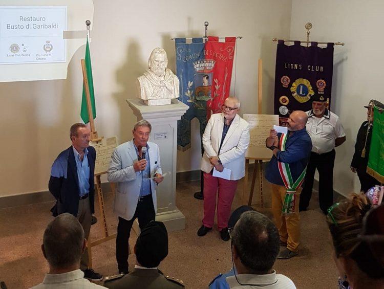 9 agosto 2018 - Inaugurazione esposizione busto Giuseppe Garibaldi restaurato dal Club